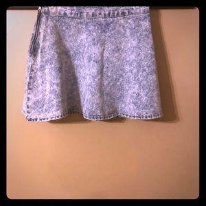 Redfox blue jean skirt.